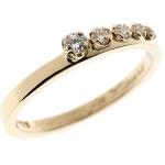 Crescent | Keltakulta 750, timantit | Vihkisormus