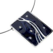 Savus | Hopea 925, timantit, emali | Kaulakoru