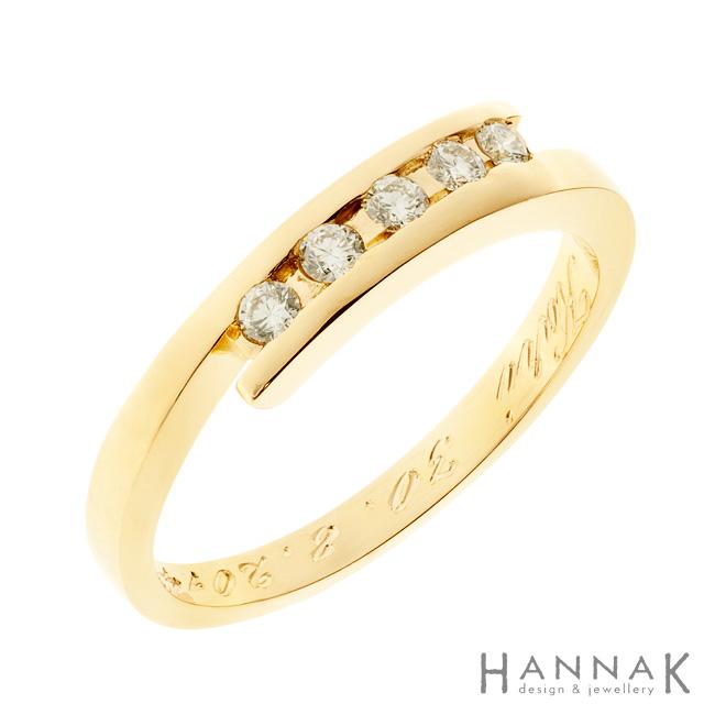 Continuum | Kulta 750, timantit | Vihkisormus
